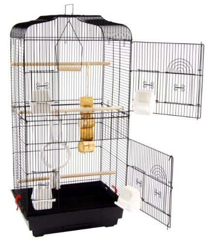San Pablo Large Double Door Bird Cage With Swing by San Pablo