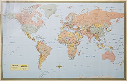 world map laminated inc barcharts 9781423220831 books amazonca