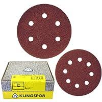 Klingspor Self-Fastening Wood/Metal Sanding Discs - PS 22 K 80 Grit 150mm 10 by Klingspor