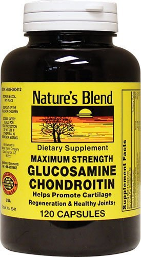 Nature's Blend Glucosamine Chondroitin, Maximum Strength Capsules, 120 CT (PACK OF 2)