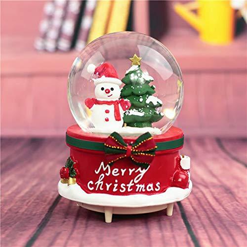Navidad Muñeco De Nieve Bola De Cristal Girar Mecanismo Caja De Música 8f846d403a67b