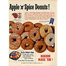 Apple 'n' Spice Donuts by Pillsbury ad 1950 L