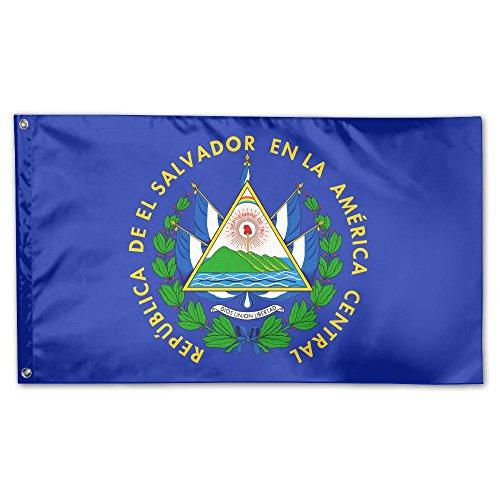 UDSNIS Coat Of Arms Of El Salvador Garden Flag 3 X 5 Flag For House Decor Banner