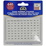 DMC 6103 Floss Number Stickers, 500-Pack