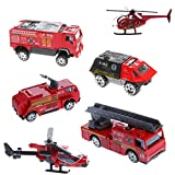 Ariel 6 pcs 1:87 Scale Car. Alloy Plastic Military Military Engineering Aircraft Vehicle Kid Toy Model 2#
