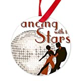 CafePress - Retro Dancing With The Stars - Round Christmas Ornament