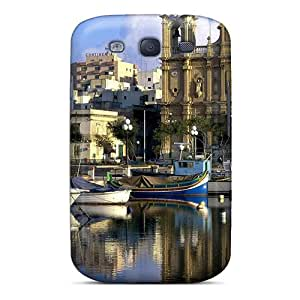New Style Tpu S3 Protective Case Cover/ Galaxy Case - Church In Harbor Town In Malta