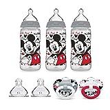 NUK Disney Baby Bottle & Pacifier Newborn Set, Mickey Mouse