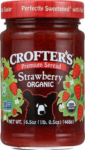Crofters Strawberry - Crofters Organic Fruit Spread Strawberry -- 16.5 oz - 2 pc