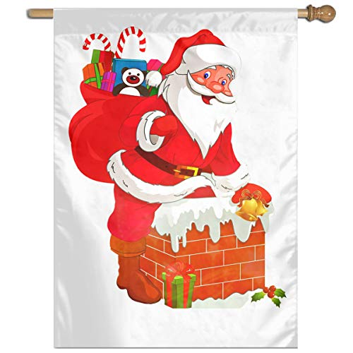 Bdna PNGPIX-COM-Santa-Claus-PNG-Transparent-Image Garden Flag One Size Yard Flags for Holiday Party Indoor Outdoor Home -