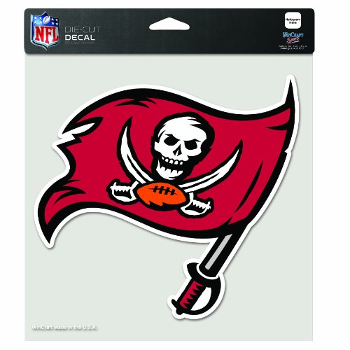 (NFL Tampa Bay Buccaneers 8-by-8 Inch Diecut Colored Decal)
