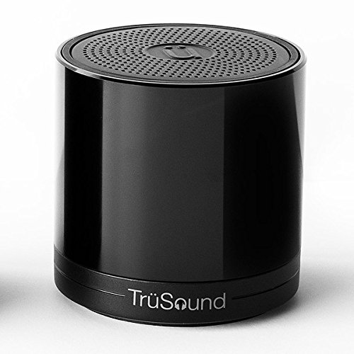 TruSound Audio T2, Wireless Bluetooth Portable Speaker/speakerphone 360 Degree Sound, Glossy Black