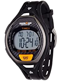 Timex Men's T5K335 Ironman Sleek 50-Lap Black Resin Strap Watch