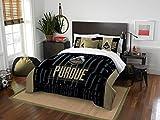 Purdue Boilermakers - 3 Piece FULL / QUEEN SIZE Printed Comforter & Shams - Entire Set Includes: 1 Full / Queen Comforter (86'' x 86'') & 2 Pillow Shams - NCAA College Bedding Bedroom Accessories