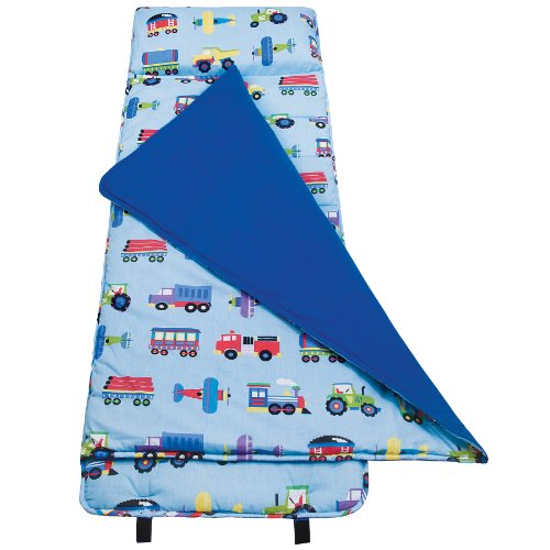 Original NapMat Olive Kids by Wildkin Children's Original NapMat with Built in Blanket and Pillowcase Pillow Insert Included Premium Cotton and Microfiber Blend Ages 3-7 years Train Planes and - Nap Stephen Mat Joseph