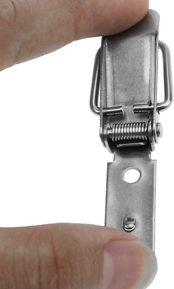 DXLing 6 St/ück Spannverschluss 304 Edelstahl Kistenverschluss Spannverschluss Klappverschluss Metall Hebelverschluss Spannverschluss Verschluss Haspe Kofferverschluss f/ür Box Toolbox Schublade