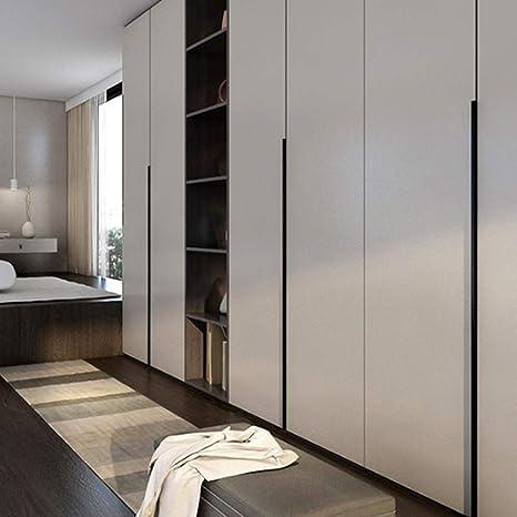 Lnimikiy - Tirador de puerta para el hogar, dormitorio, cajón, cocina invisible, sin perforaciones, para armarios pequeños, de aleación de aluminio cromado (80 mm), As Picture Show, 80 mm: Amazon.es: Hogar