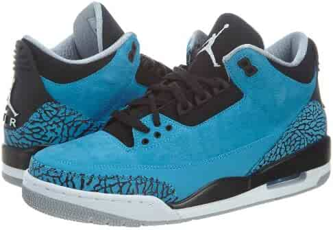 0525e70e0e26ef Air Jordan 3 Retro Men s Basketball Shoes Dark Powder Blue White-Black-Wolf