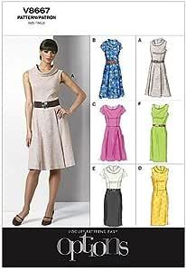 Vogue Patterns V8667 - Patrones de Costura para Vestidos