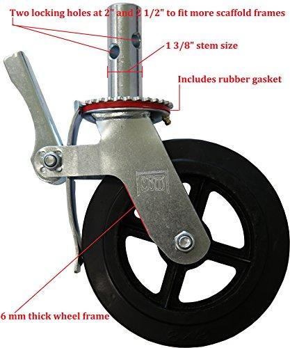 """Metaltech M-MBC8 8 in. Scaffolding Caster Wheel, 8"""""""