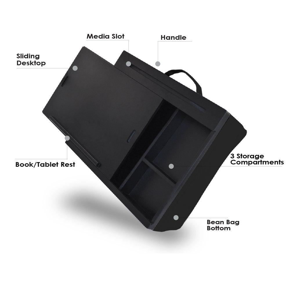 iCozy Portable Cushion Lap Desk With Storage - Zebra by iCozy (Image #5)