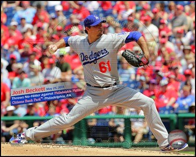 Josh Beckett celebrates game against the Phillies on May 25, 2014 Art Poster PRINT Unknown 10x8