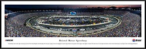 Bristol Motor Speedway Night Race - Blakeway Panoramas NASCAR Poster with Standard Frame