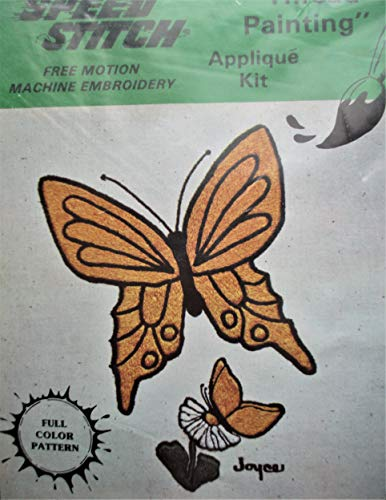 Speed Stitch Thread Painting Free Motion Machine Embroidery The Butterflies Applique Kit