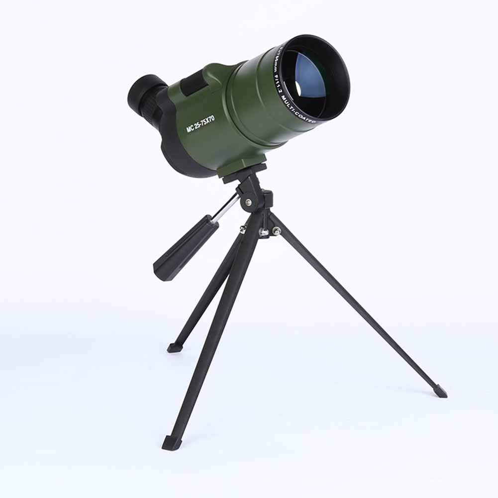 IGPG 25-75 * 70 monoculars, high power/super clear/delicate/sturdy/tripod/carrying case/observation target (black green)