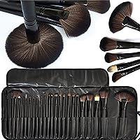 Sonolife - Set de 24 Brochas Profesionales para Maquillaje con Estuche de Cuero