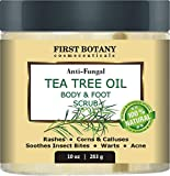 100% Natural Anti Fungal Tea Tree Oil Body & Foot Scrub with Dead Sea Salt - Best for Acne, Dandruff and Warts, Helps...
