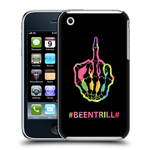 Official Been Trill Middle Finger Colourful Prints Hard Back Case for Apple iPhone 3G / 3GS