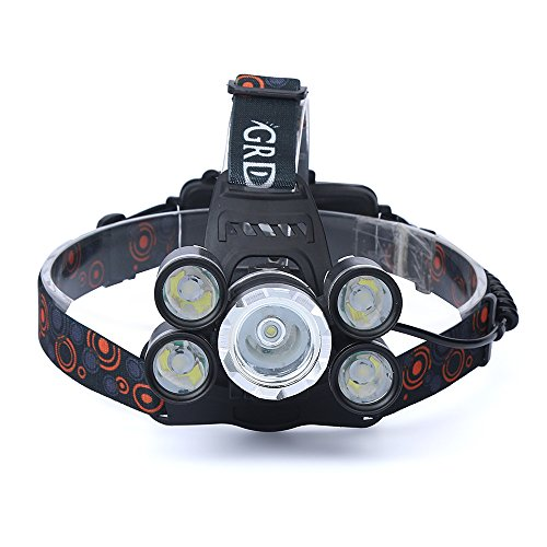 ( Orcbee  _35000 LM 5X CREE XM-L T6 LED Rechargeable Headlamp Headlight Travel Head Torch)