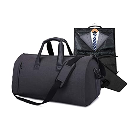 f5ddbf97a JoofEric Carry On Garment Bag for Travel & Business Trips with Shoulder  Strap Duffel Bag with Shoe Pouch (Black): Amazon.ca: Luggage & Bags