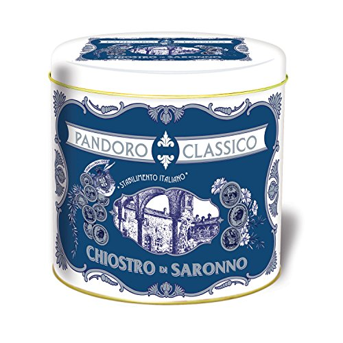Chiostro di Saronno Mini Pandoro Cornice Holiday Tin Soft Italian Christmas Cake Bread 80g (Christmas Italian Cake)