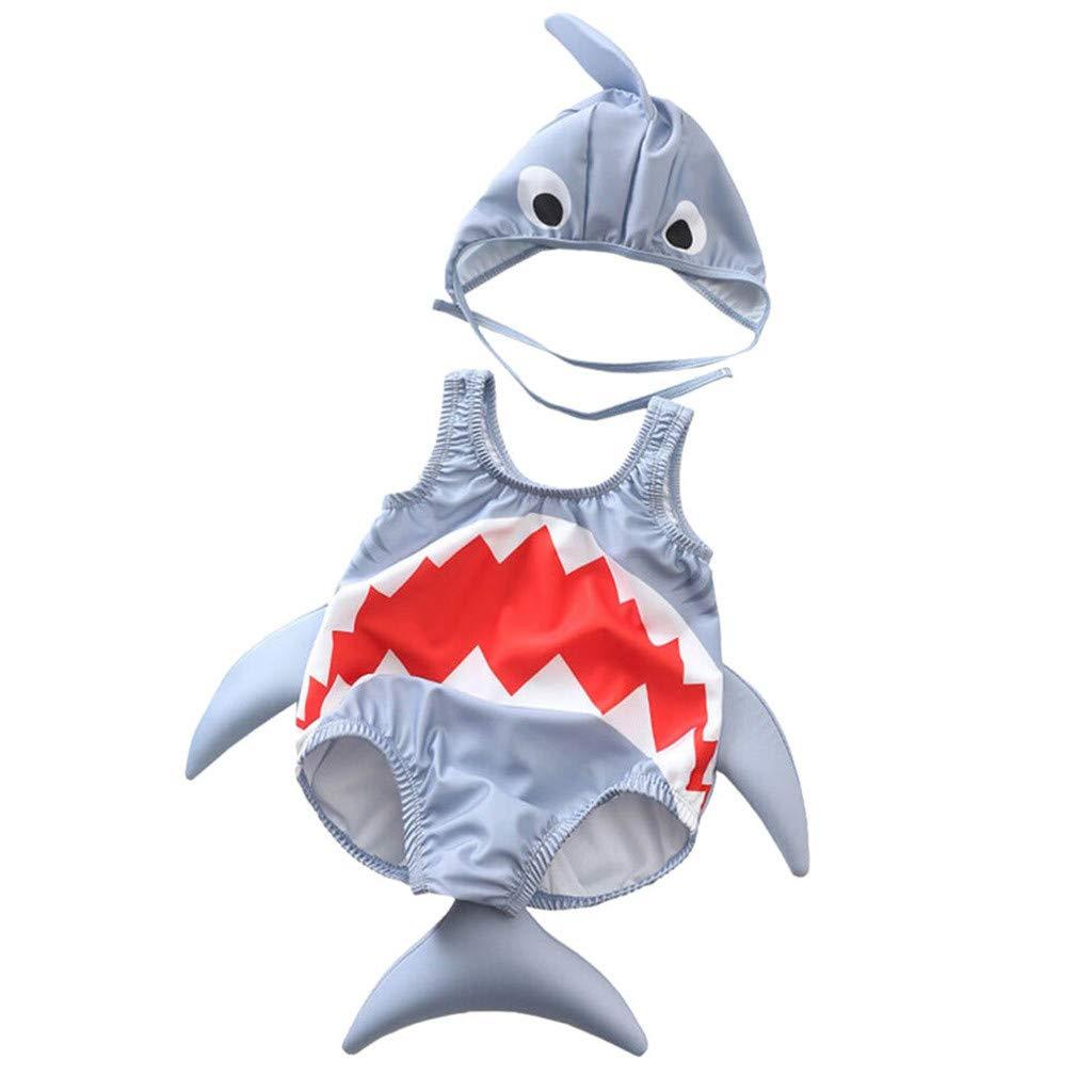 VECDY Bañadores Niña Recién Nacido, Mdoa Traje De Baño De Una Pieza De Tiburón Estéreo De Dibujos Animados Sin Mangas para Niños Conjunto Bodies Peleles Verano Monokini