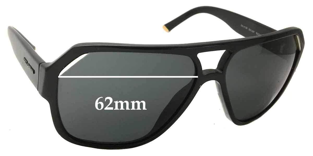 SFX Replacement Sunglass Lenses fits Dolce /& Gabbana DG8069 61mm Wide