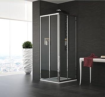 Mampara de ducha en ángulo modelo Alessia-acrílico-plata pulido-185 cm-compribene 70 x 80 cm: Amazon.es: Bricolaje y herramientas