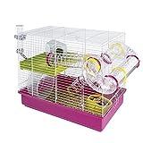 Ferplast Hamster Cage, White, 11.61 x 14.76''