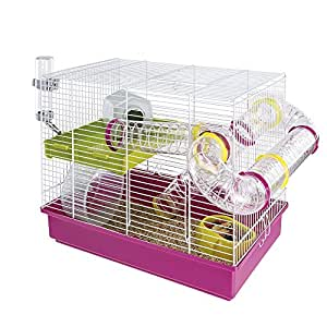Amazon.com : Ferplast Hamster Cage, White, 11.61 x 14.76 : Pet Supplies