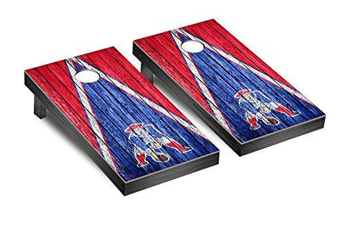 NFL New England Patriots Triangle Weathered Version, One Size, Red/Blue by Victory Tailgate