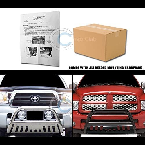 R/&L Racing Chrome Bull Bar Brush Push Bumper Grill Grille Guard 1999-2007 Compatible with Toyota Tundra//Sequoia