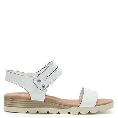 89641d298dc Daniel Likely White Leather Low Wedge Sandals 41 White Leather ...