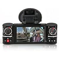 inDigi 2.7 TFT LCD Dual Camera Rotated Lens Car DVR Vehicle Video Recorder Dash Cam