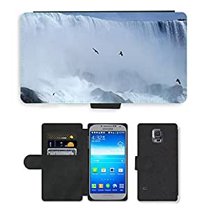 PU LEATHER case coque housse smartphone Flip bag Cover protection // M00112549 Cataratas del Niágara Cascada Canadá // Samsung Galaxy S5 S V SV i9600 (Not Fits S5 ACTIVE)