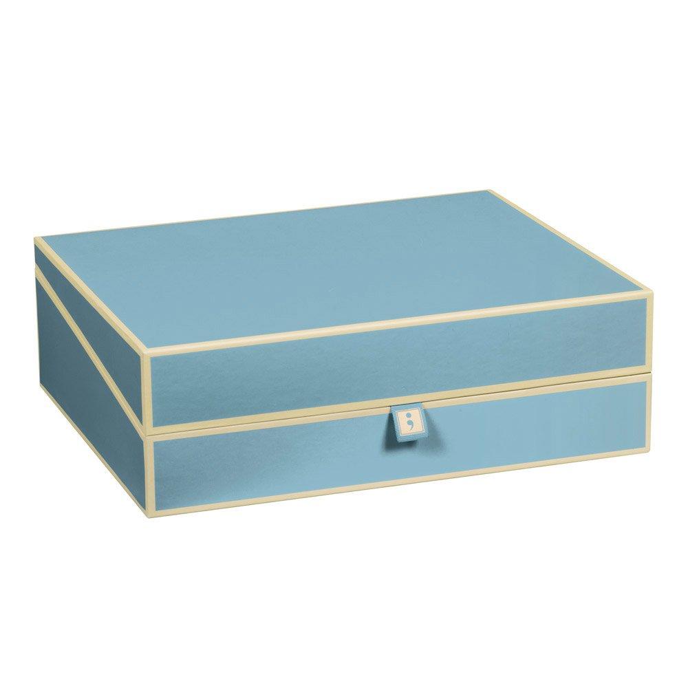 Semikolon Letter/A4 Size Document Storage Box, Ciel Sky Blue (31909)