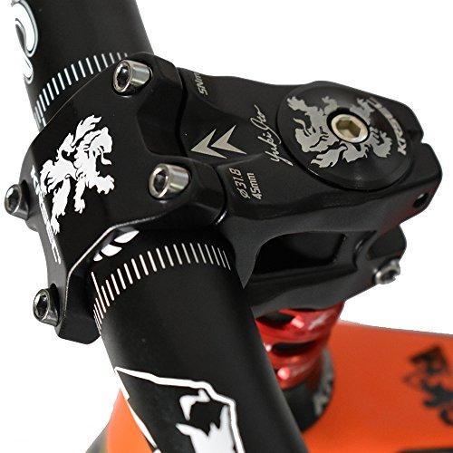 (31.8 Stem 45mm Mountain Bike Stem Short Handlebar Stem Riser ultra-light MTB BMX DH FR for Most Bicycle, Road Bike, Mountain Bike, Cycling Handlebar Accessories)