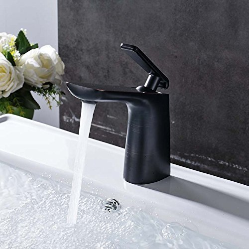 Creative Toilet Bathroom wash Basin Faucet Single Hand Brass to Read & Cold basins Blender a drilled Hole