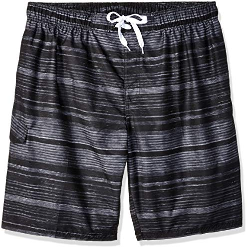 Kanu Surf Men's Legacy Swim Trunks (Regular & Extended Sizes), Jetstream Black, ()