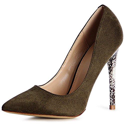 topschuhe24 - Zapatos de vestir para mujer verde oliva